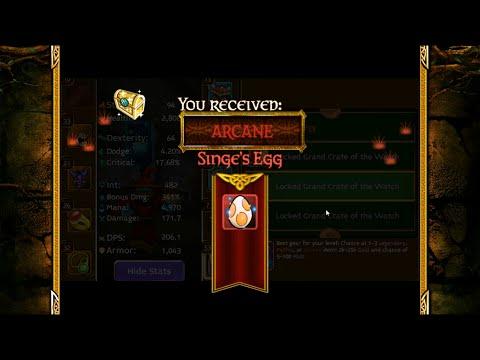 Arcane Legends Paradise Pier Glitching And Opening Locked Crates (Got Singe)