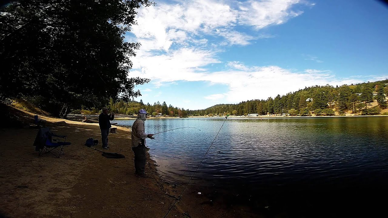 Lake gregory trout fishing youtube for Lake gregory fishing report