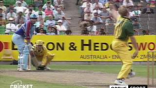 Shane Warne delivers a rare bad delivery