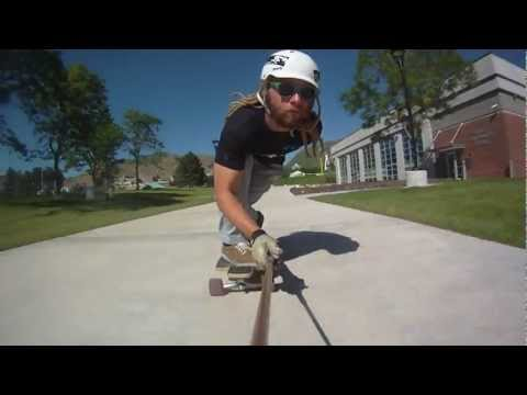 Longboarding: raw run University of Salt Lake Utau