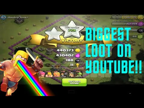 Clash of Clans -  BIGGEST LOOT ON YOUTUBE! - 870,963K