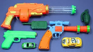 Learn Colors with Box Full Of Toys Guns Videos for Children - Toy Guns Toys for Kids Nursery Rhymes