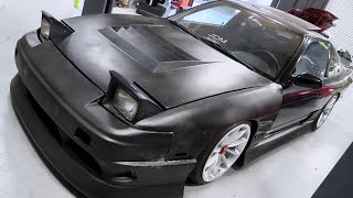 WIDEBODY 240SX NEW HOOD INSTALL!!
