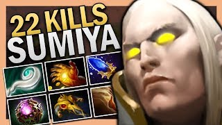 Dota 2 Midlane Invoker by Sumiya with 22 Kills 7.22 Gameplay
