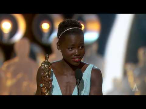 Lupita Nyong o winning Best Supporting Actress