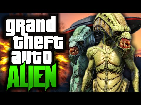 "GTA 5 Movie: ""Alien Attack!"" - Part 1 - (GTA 5 Mods Funny Moments)"
