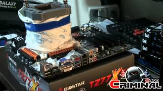 Intel Ivy Bridge 3770K - Biostar TZ77XE4 Extreme Overclocking LN2