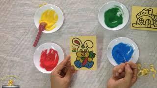 Đồ Chơi Trẻ Em Bé Su Tô Màu Tranh Cát Bạn Thỏ Và Ngôi Nhà | ToysReview | BB Channel