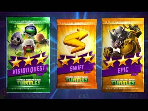 Ninja Turtles Legends Swift and Vision Packs Opening