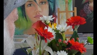 "The Beauty of Oil Painting, Mini Delights Youtube Shows, Episode 5 "" Flower Bouquet """