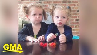 Mom of twins tries out the fruit snack challenge l GMA Digital