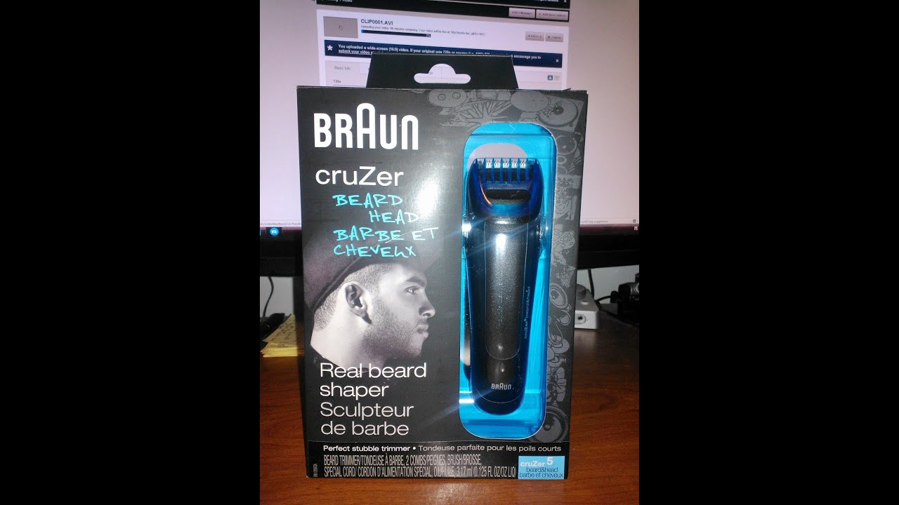 braun cruzer 5 beard and head trimmer unboxing youtube. Black Bedroom Furniture Sets. Home Design Ideas