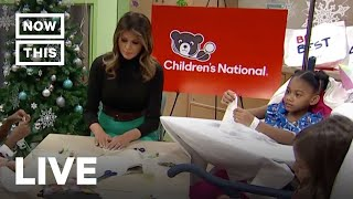 Melania Trump Visits Kids at the Children's National Hospital | NowThis