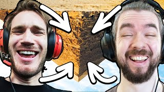 We Built An Upside Down PYRAMID In Minecraft w/ Pewdiepie