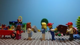 LEGO Stop Motion - Garbage Recycling