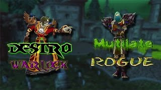 [WOD] Destro Warlock and Mutilate rogue Arena 2v2.6.1.2