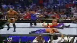 WWE 2002 The Rock and Brock lesnar segment on smackdown