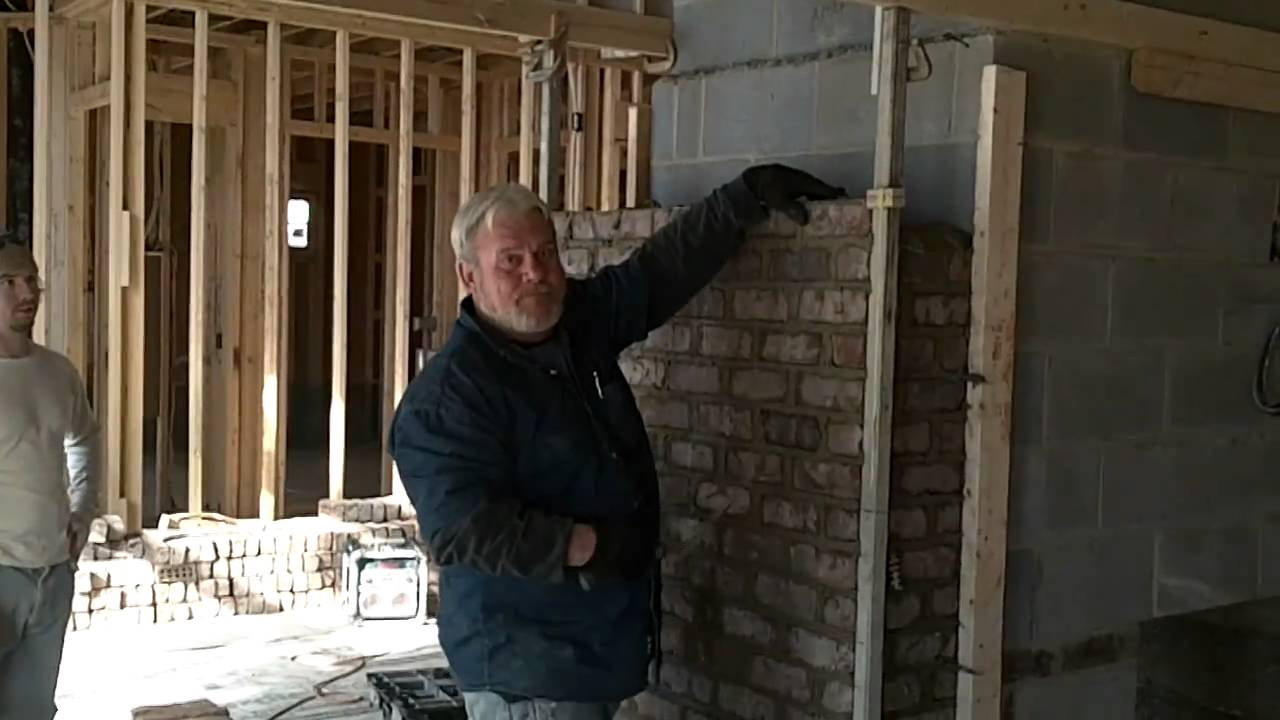 Masonry Fireplace Construction - YouTube