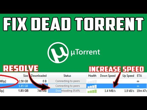 Fix & Speed Up Dead Torrent | Resolve Torrent Shows connecting to peers