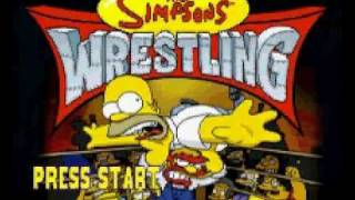 The Simpsons Wrestling Intro Playstation One