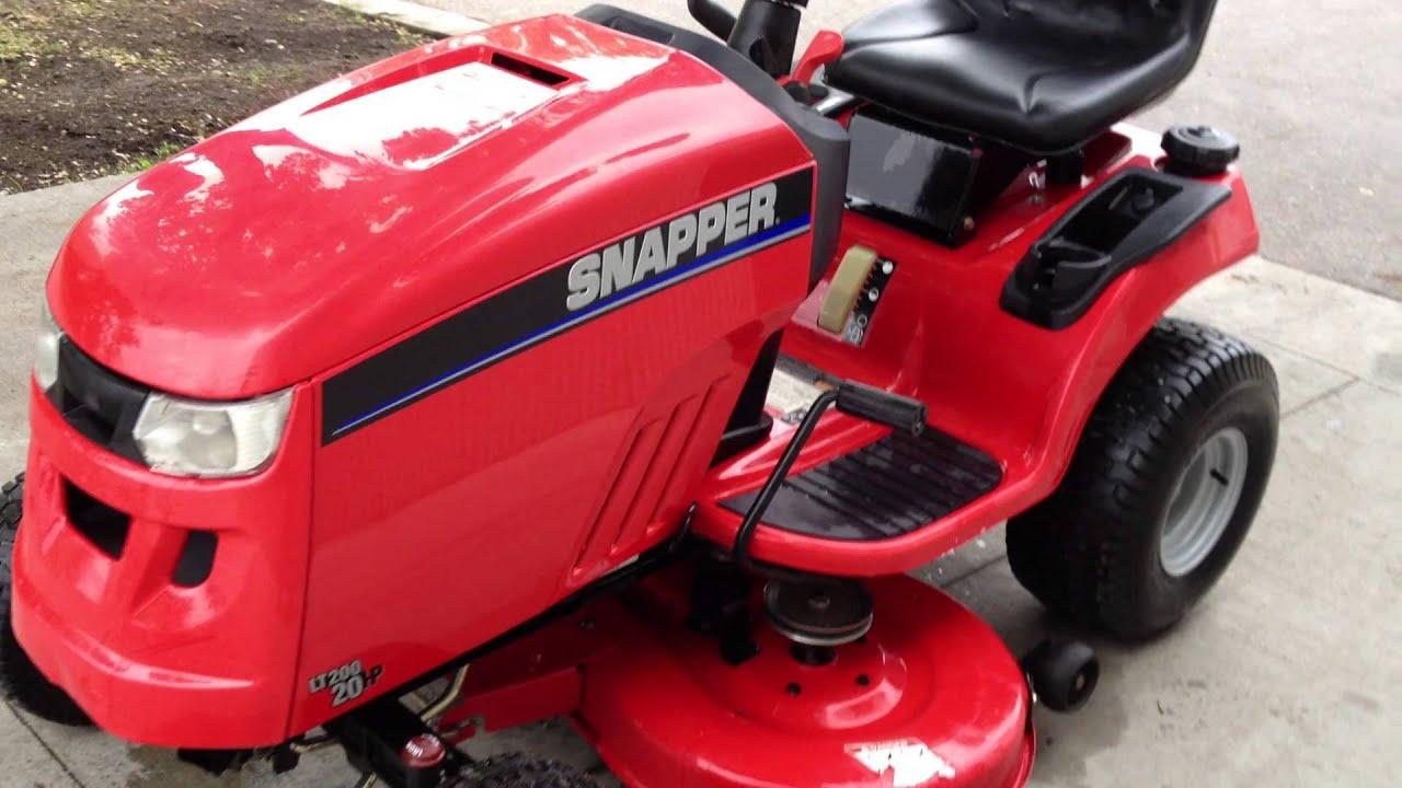 2010 Snapper Lt 200 Youtube