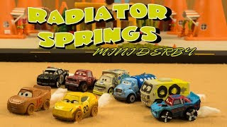 Radiator Springs Mini Derby   Lightning McQueen and Cruz Ramirez are stuck in another derby!