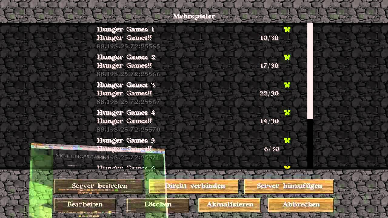 minecraft hunger games zocken