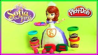 ♥ Play doh Sophia The First Royal Ice Cream Cupcakes Plasticine Bakery