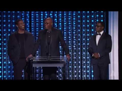 Samuel L. Jackson, Denzel Washington and Wesley Snipes honor Spike Lee at the 2015 Governors Awards