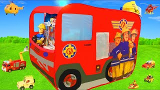 Fireman Sam Unboxing: Fire Truck Jupiter Play Tent, Toy Vehicles & Rescue Station Surprise for Kids