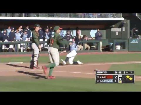 UNC Baseball: Highlights vs. Miami - Game 2