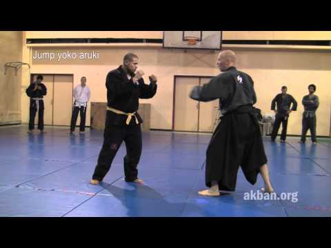 How to use Yoko aruki, Ninja walk, in combat - Ninjutsu technique, Yossi Sheriff, AKBAN Image 1
