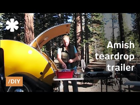 Teardrop trailer: classic 50's mobile micro-home renaissance