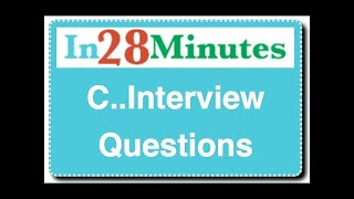 interview question on c language C interview questions and answers a large set of questions and answers are coming soon until then, please go through this archives to learn the basicsyou can start.