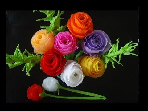 How to make paper flowers- Rose bouquet , mothers day gifts - papír rózsacsokor anyák napjára