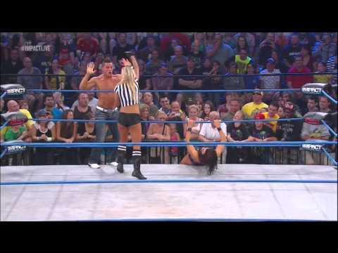 TNA Impact 10/25/12 Miss Tessmacher vs tara Title mach
