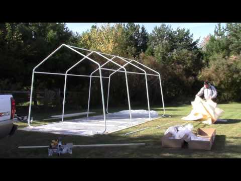 How to build the Harbor Freight Portable Garage