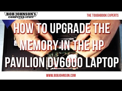 How to upgrade the memory in the HP Pavilion DV6000 Laptop