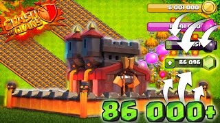 "86,000 Gems! CLASH OF CLANS | GEMMING NEW MAX ""MAGMA"" WALLS UPDATE 