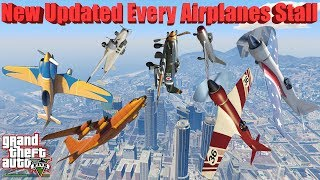 GTA V: New Updated Every Airplanes Stall Crash and Fail Compilation (60FPS)