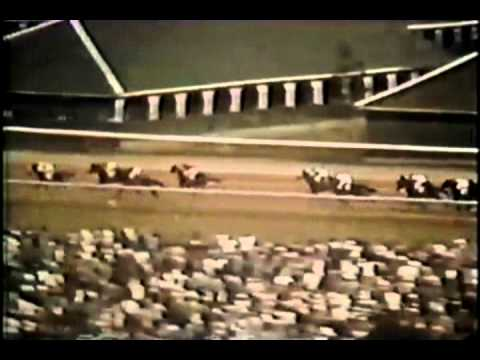 The actual footage of Secretariat's Kentucky Derby victory during the first race of the 1973 Triple Crown.
