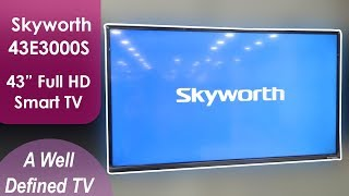 Skyworth 43E3000S 43 inch Smart TV Review | Android | Full HD TV 📺