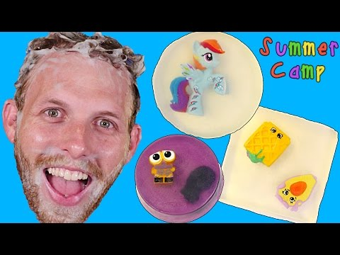 Summer Camp - Surprise Toy Soaps Tutorial! My Little Pony, Shopkins, Hello Kitty Learn with DCTC