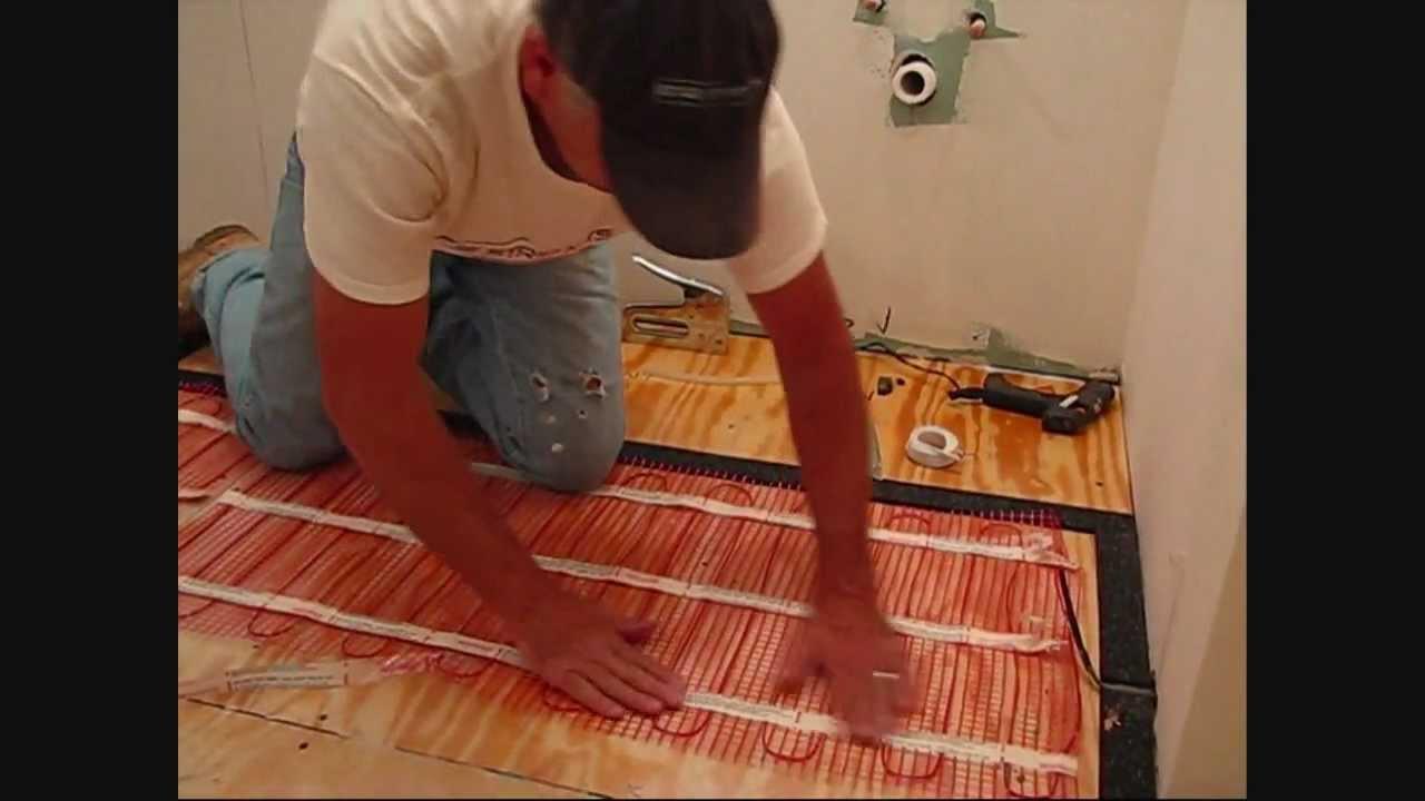 Install Warmup Electric Floor Heating Mat Using Edge Strip