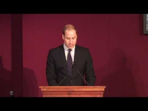 The Duke of Cambridge makes a speech at the End Wildlife Crime Conference