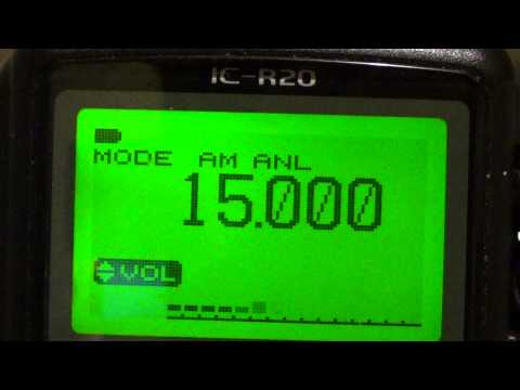 Icom IC R20 receiving WWV 15 mhz