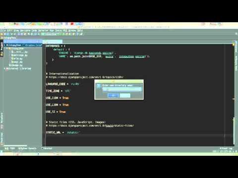Создание нового django проекта и настройка на него PyCharm