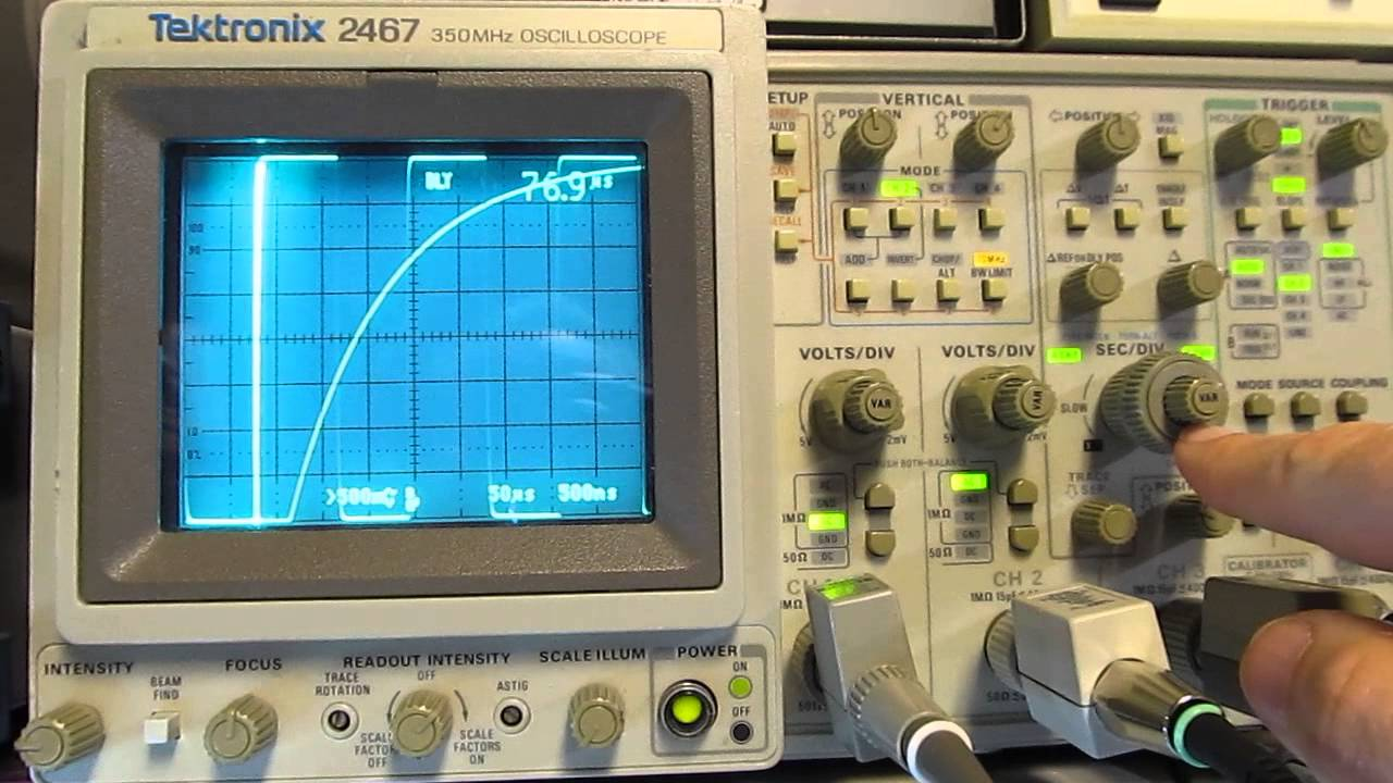 Oscilloscope Pulse Measurement : Measure capacitors and inductors with an oscilloscope