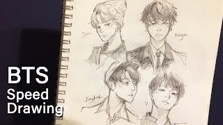 [Speed Drawing] BTS season's greetings fanart