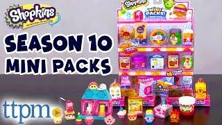Shopkins Season 10 Mini Packs - 16 Collectible Figure Toys Review | Moose Toys